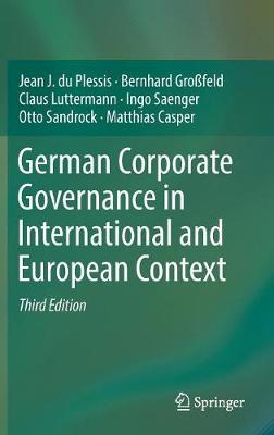 German Corporate Governance in International and European Context (Hardback)