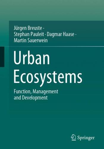 Urban Ecosystems: Function, Management and Development (Paperback)
