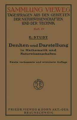 Denken Und Darstellung in Mathematik Und Naturwissenschaften - Sammlung Vieweg 2 (Paperback)