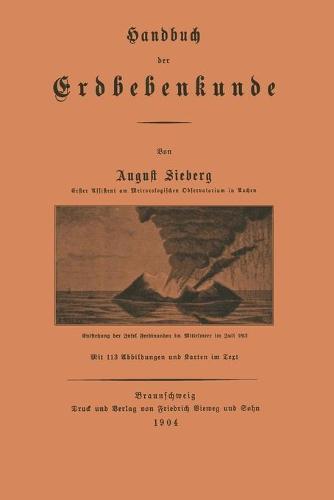 Handbuch Der Erdbebenkunde (Paperback)