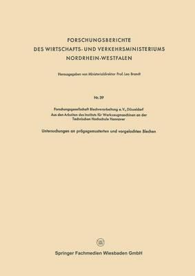 Forschungsberichte Des Wirtschafts- Und Verkehrsministeriums Nordrhein-Westfalen (Paperback)