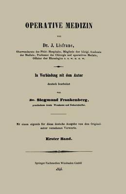 Operative Medizin: Erster Band (Paperback)