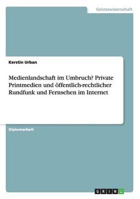 Medienlandschaft Im Umbruch? Private Printmedien Und Offentlich-Rechtlicher Rundfunk Und Fernsehen Im Internet (Paperback)