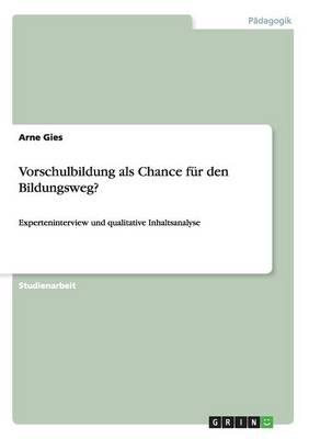 Vorschulbildung ALS Chance Fur Den Bildungsweg? (Paperback)