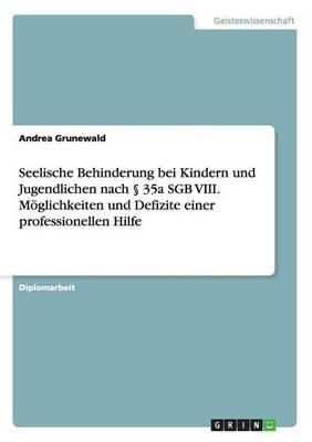 Seelische Behinderung Bei Kindern Und Jugendlichen Nach 35a Sgb VIII. Moglichkeiten Und Defizite Einer Professionellen Hilfe (Paperback)