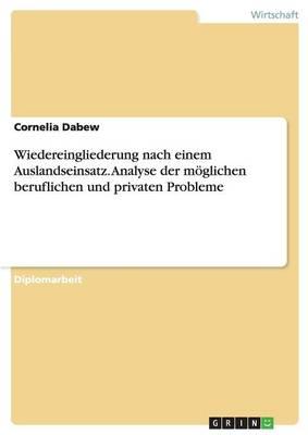 Wiedereingliederung Nach Einem Auslandseinsatz. Analyse Der Moglichen Beruflichen Und Privaten Probleme (Paperback)