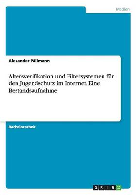Altersverifikation Und Filtersystemen Fur Den Jugendschutz Im Internet. Eine Bestandsaufnahme (Paperback)