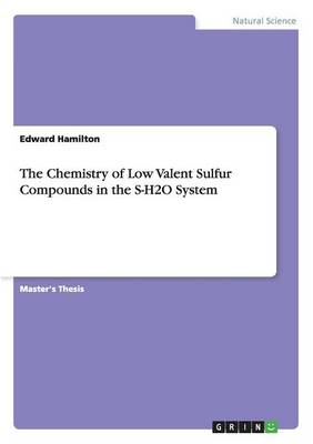 The Chemistry of Low Valent Sulfur Compounds in the S-H2O System (Paperback)