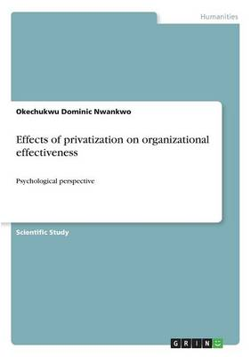 Effects of Privatization on Organizational Effectiveness (Paperback)
