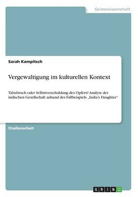 Vergewaltigung Im Kulturellen Kontext (Paperback)