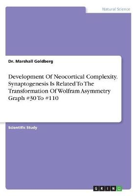 Development of Neocortical Complexity. Synaptogenesis Is Related to the Transformation of Wolfram Asymmetry Graph #30 to #110 (Paperback)