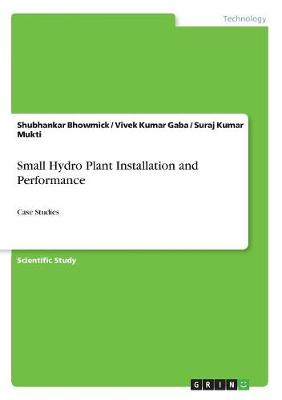 Small Hydro Plant Installation and Performance (Paperback)