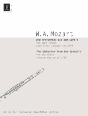The Abduction from the Seraglio for Two Flutes: UE16737 (Sheet music)
