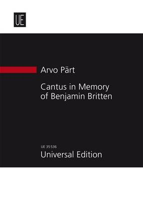 Cantus in Memory of Benjamin Britten for String Orchestra and Bell: UE35536: Study Score (Sheet music)
