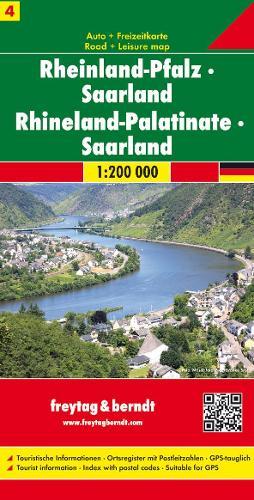 Rhineland-Pfalz/Saarl: FB.D214 (Sheet map, folded)