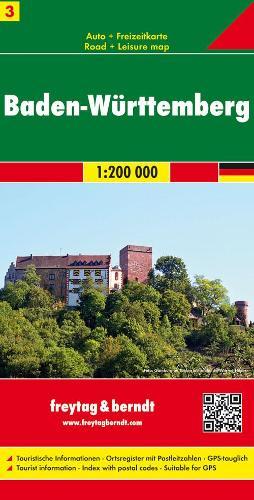 Baden-Wurttemberg: FB.D204 - Road Maps (Sheet map, folded)