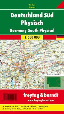 Germany South Map Flat in a Tube 1:500 000 (Sheet map, folded)