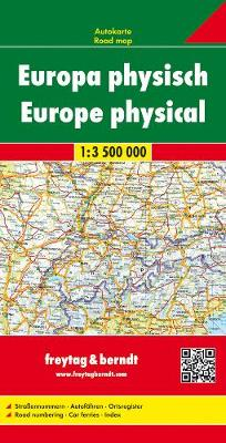 Europe Fysiek: FBE.001 (Sheet map, folded)