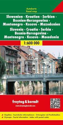 Slovenia - Croatia - Serbia - Montenegro: FB.J160 (Sheet map, folded)