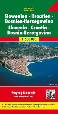 Slovenia - Croatia - Bosnia-Hercegovina: FB.J162 (Sheet map, folded)