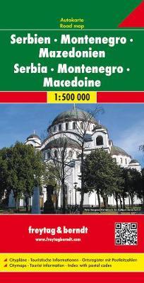 Serbia-Montenegro, Macedonia: FB.J150 (Sheet map, folded)
