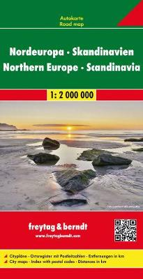 Northern Europe Scandinavia Road Map 1 2 000 000 Waterstones