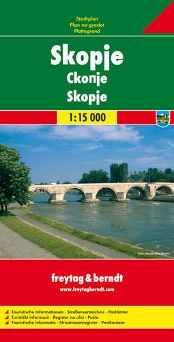 Skopje: FBC.620 - City Map (Sheet map, folded)