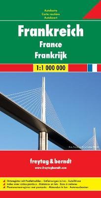 France Road Map 1:1 000 000 (Sheet map, folded)