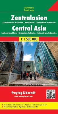 Central Asia - Kazakhstan South - Kyrgyzstan - Tajikistan - Turkmenistan - Uzbekistan Road Map 1:1 500 000 (Sheet map, folded)