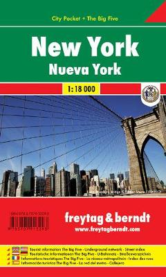 New York City City Pocket + the Big Five Waterproof 1:18 000 (Sheet map, folded)