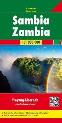 Zambia Road Map 1:1 000 000 (Sheet map, folded)