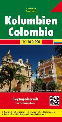 Colombia Road Map 1:1 000 000 (Sheet map, folded)
