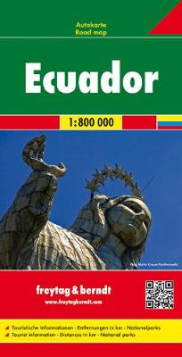 Ecuador Road Map 1:800 000 (Sheet map, folded)