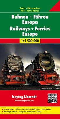 Europe trains and ferries 2019: FBE.BF (Sheet map, folded)