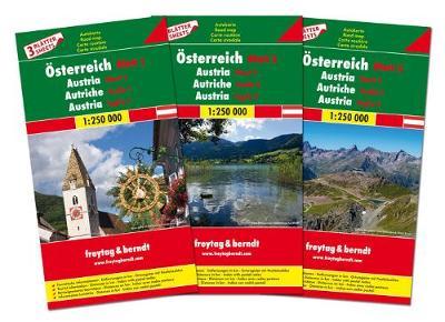 Austria 3 Regional Maps 2019: FB.O3SET (Sheet map, folded)