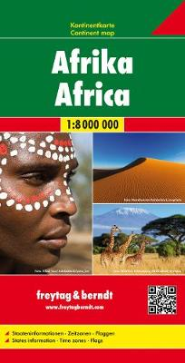 Africa Map, Pleated Physical/Political 1:8 000 000 (Sheet map, folded)