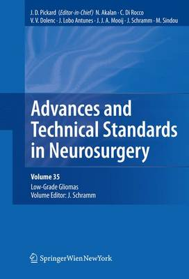 Advances and Technical Standards in Neurosurgery, Vol. 35: Low-Grade Gliomas. Edited by J. Schramm - Advances and Technical Standards in Neurosurgery 35 (Paperback)