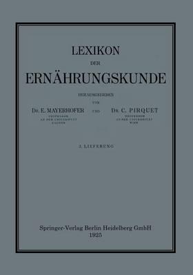 Lexikon Der Ern�hrungskunde (Paperback)