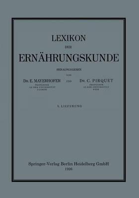 Lexikon Der Ernahrungskunde (Paperback)
