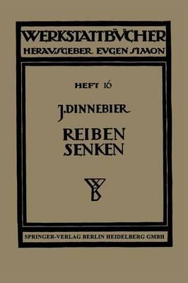 Reiben Und Senken - Werkstattbucher 16 (Paperback)