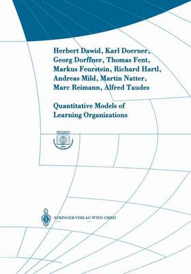 Quantitative Models of Learning Organizations - Interdisciplinary Studies in Economics and Management 3 (Paperback)