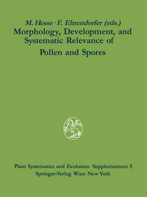 Morphology, Development, and Systematic Relevance of Pollen and Spores - Plant Systematics and Evolution - Supplementa 5 (Paperback)