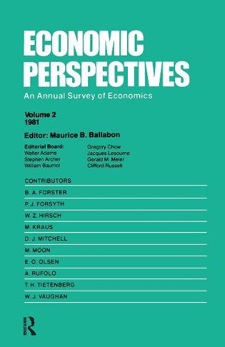 Economic Perspectives (Vol 2) (Hardback)