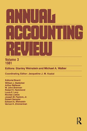 Annual Accounting Review (Vol (Hardback)