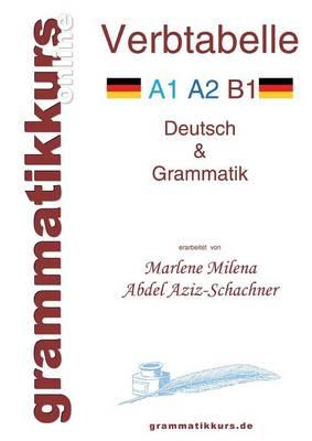 Verbtabelle Deutsch A1 A2 B1: Lernwortschatz fur die Integrations-Deutschkurs TeilnehmerInen A1 A2 B1 (Paperback)