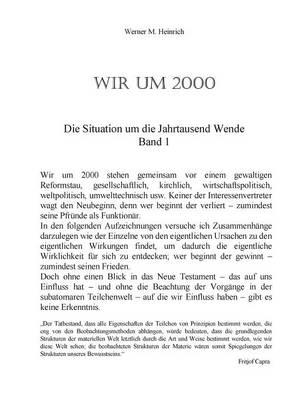 Wir Um 2000 - Band 1 (Paperback)