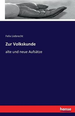 Zur Volkskunde (Paperback)