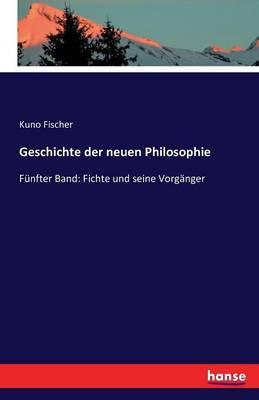 Geschichte Der Neuen Philosophie (Paperback)