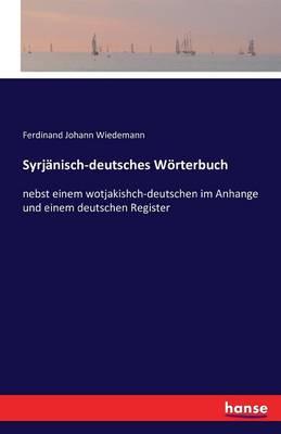 Syrjanisch-Deutsches Worterbuch (Paperback)