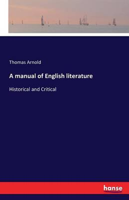 A Manual of English Literature (Paperback)